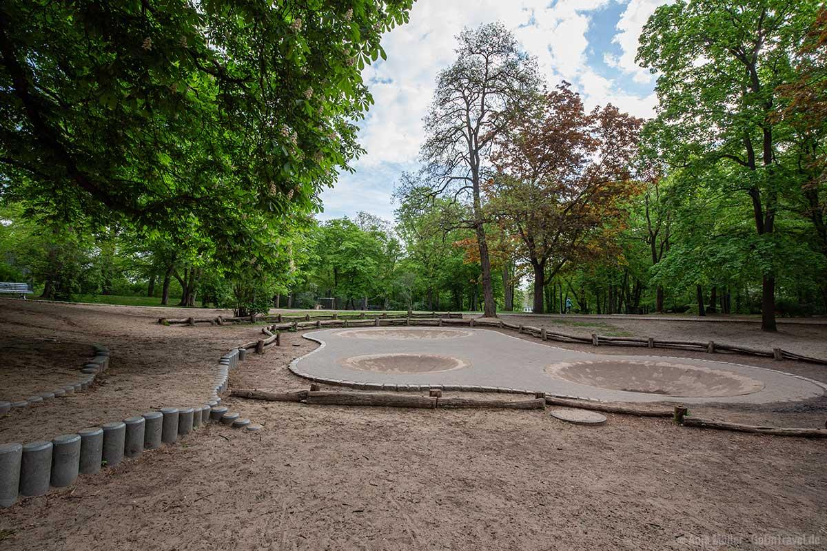 Skateboard Anlage im Volkspark Schöneberg-Wilmersdorf