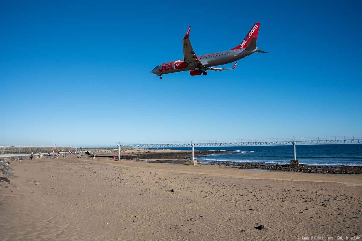 Schöne Strände auf Lanzarote, gibt es nicht nur für Planespotter