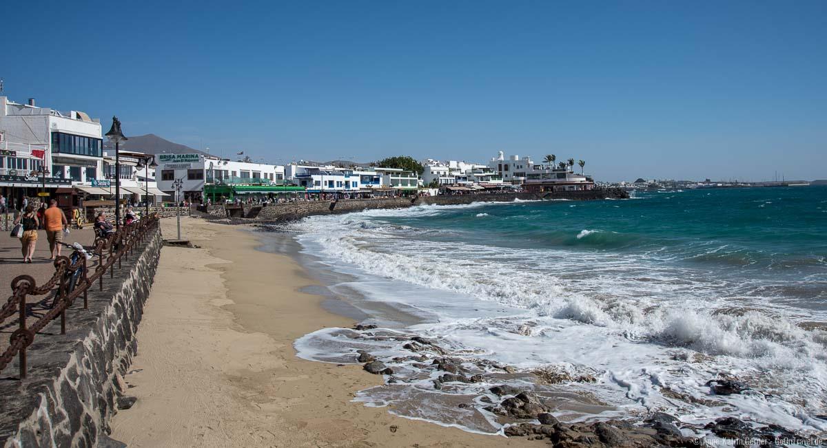 Playa Blanca bei Flut