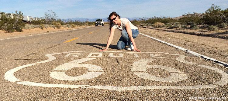 Wunsch in Erfüllung gegangen: Posen auf der Route 66
