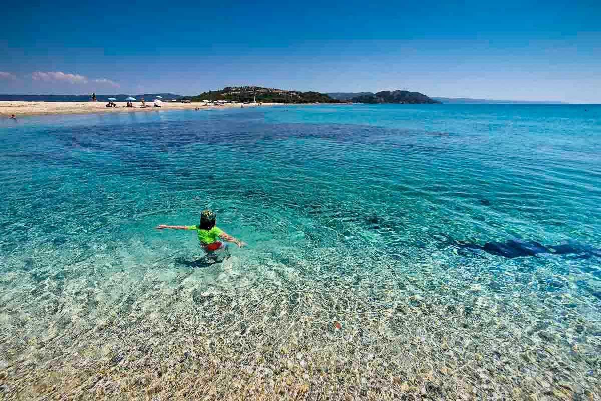 Ein kleines Paradies ist der Possidi Beach auf Chalkidiki