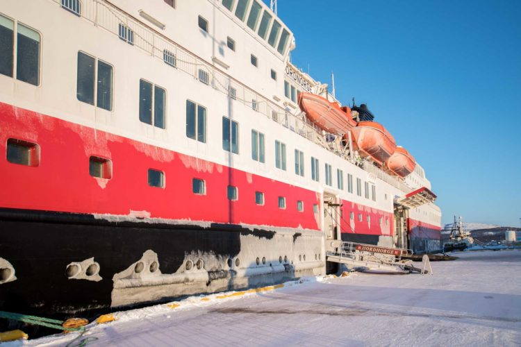 Postschiffroute im Winter Hurtigruten