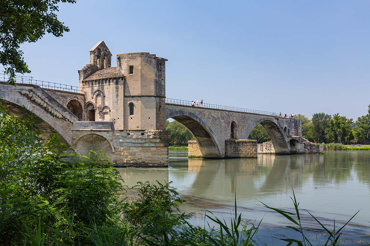 Die Saint-Bénezet-Brücke in Avignon