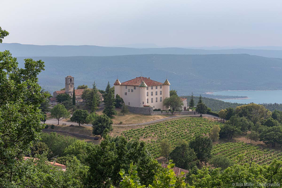 Blick auf das Chateau d'Aiguines