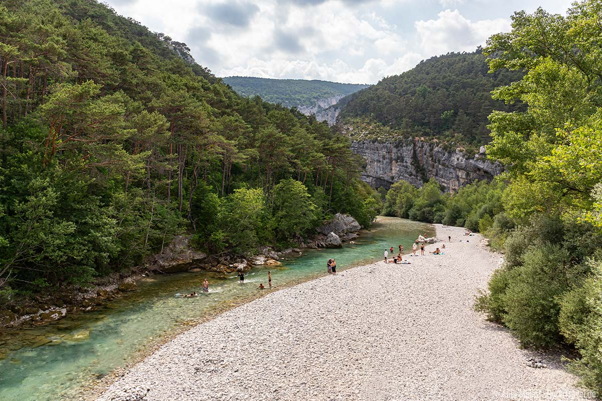 Baden im Verdon Fluss
