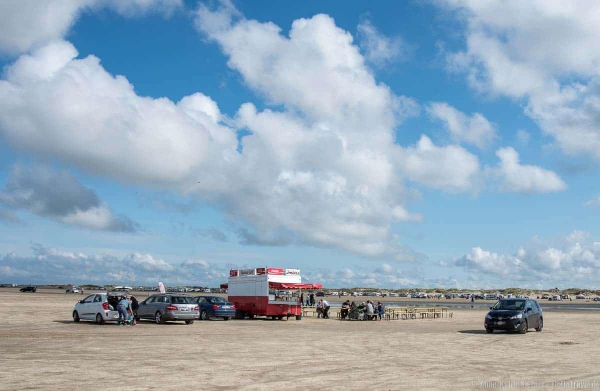Imbisswagen am Strand von Lakolk