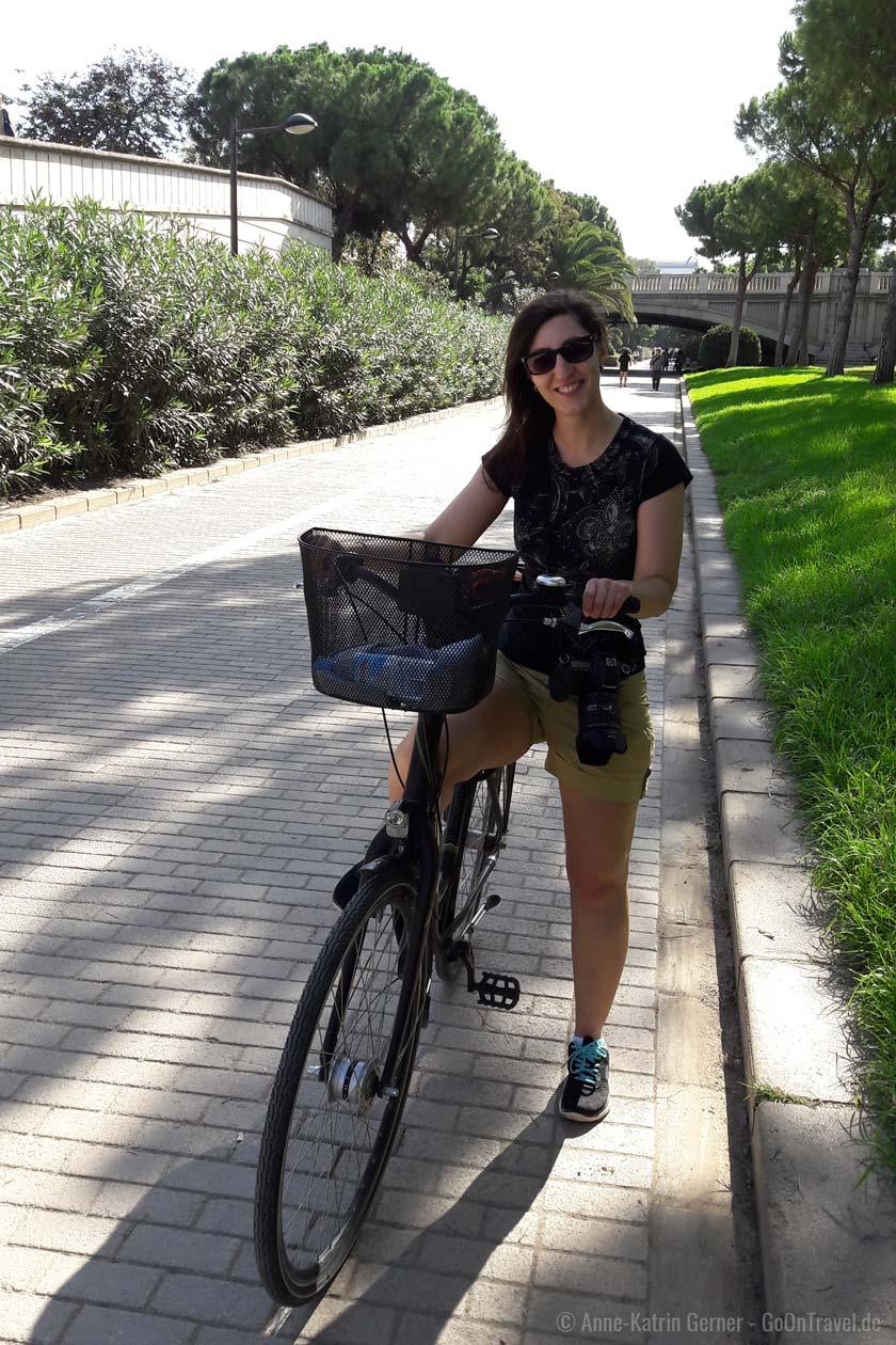 sehr gutes Radwegenetz im Turia-Park