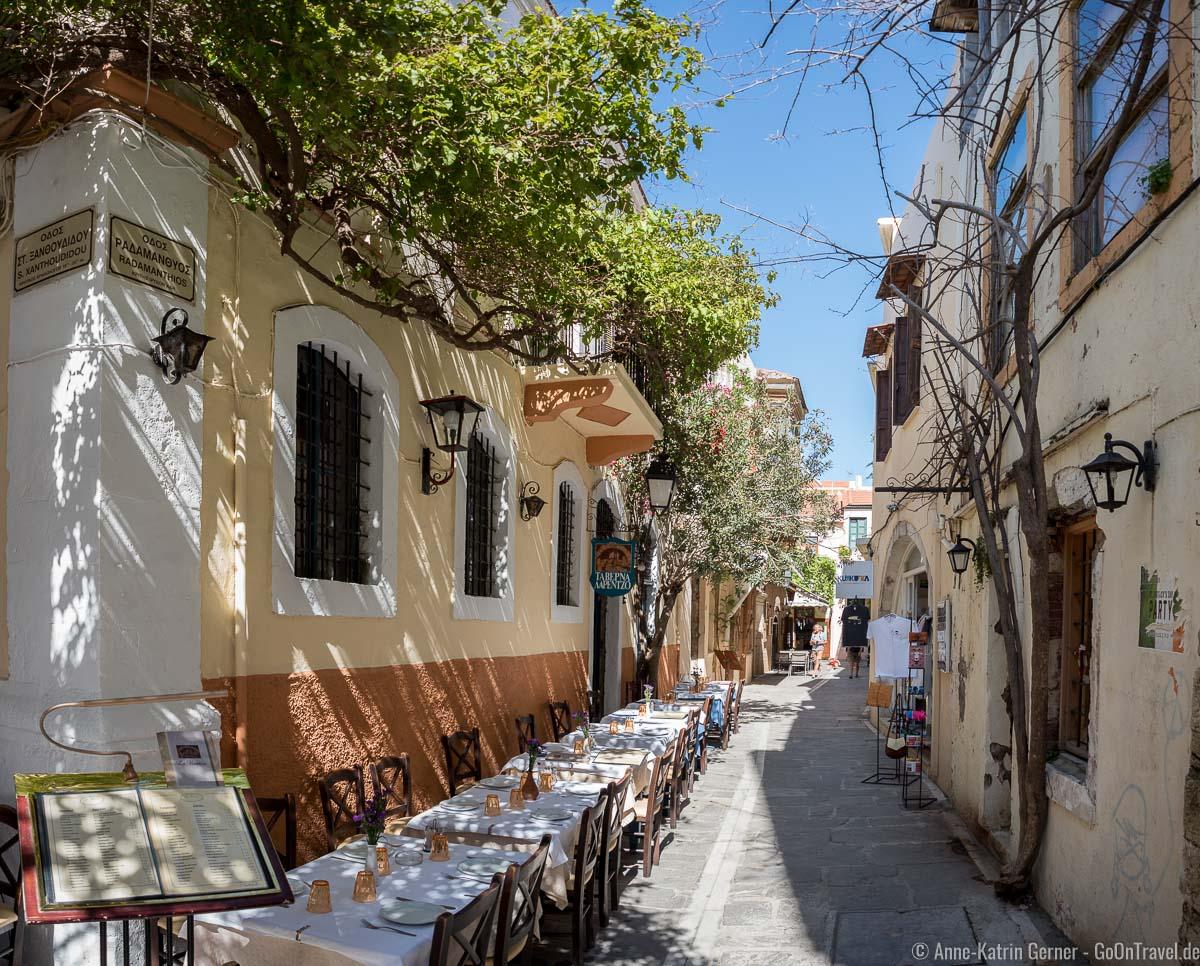 Taverne in der Altstadt von Rethymno