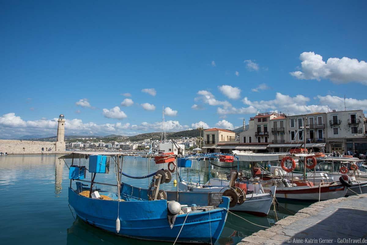 Leuchtturm im venizianischen Hafen von Rethymno