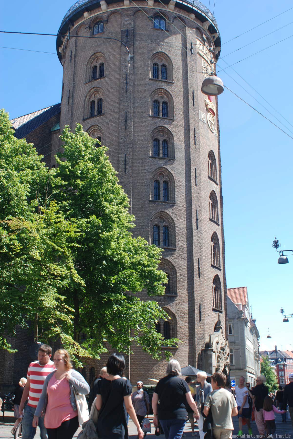 Eine von vielen Kopenhagen Sehenswürdigkeiten: der Runde Turm - Rundetaarn