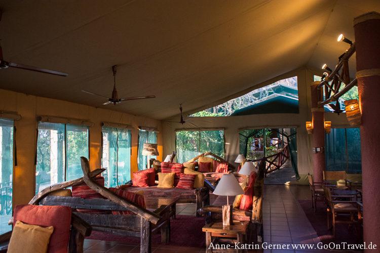Hauptzelt Mbuzi Mawe Serengeti