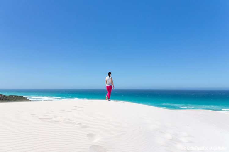 Die weißen Sanddünen im De Hoop Nature Reserve