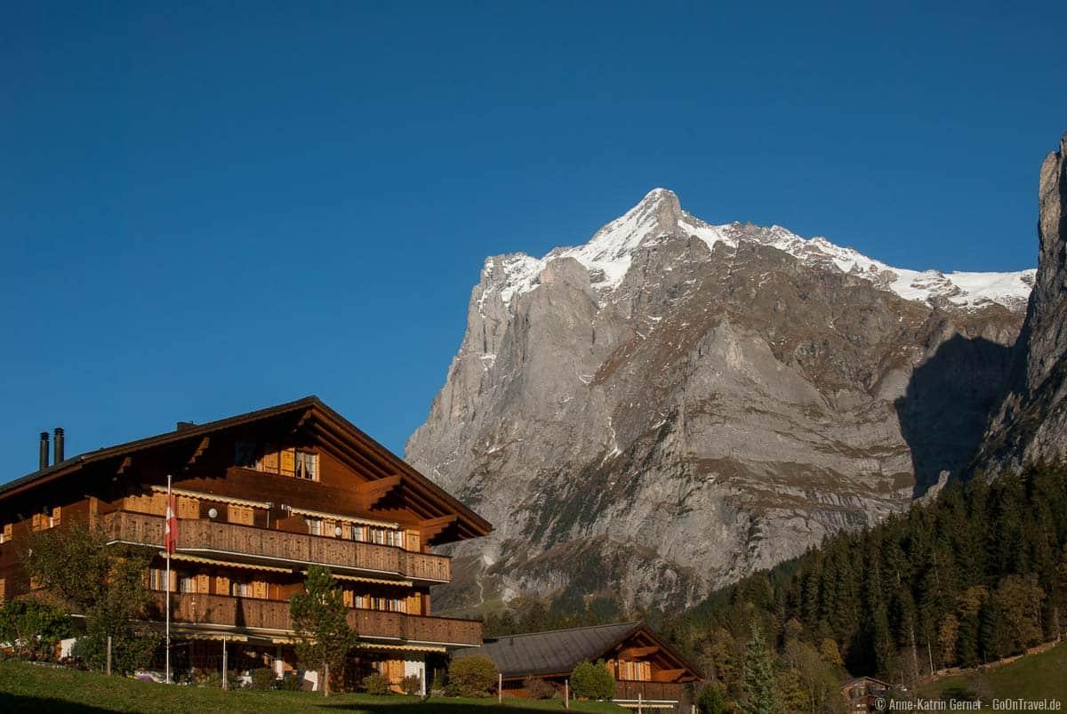 Wetterhorn im Berner Oberland in der Schweiz.