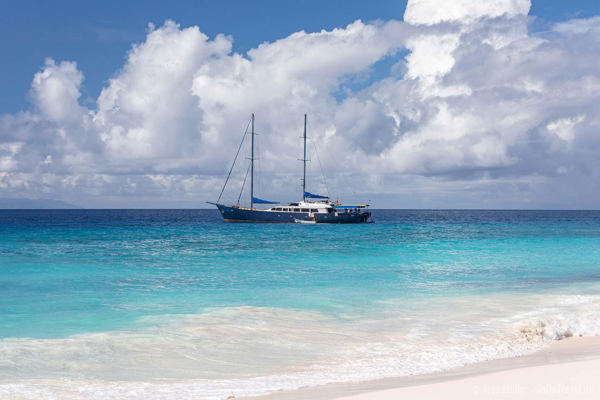 Seychellen Aride Segelschiff
