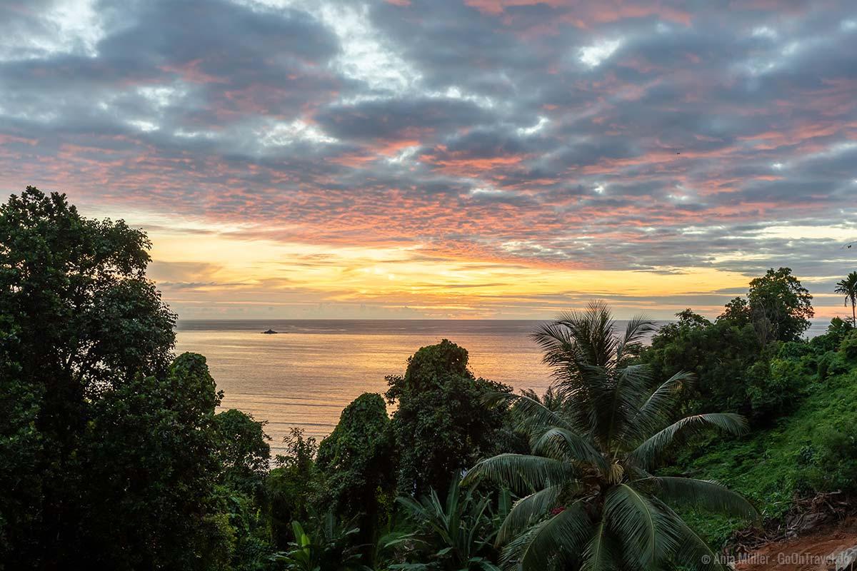 Sonnenuntergang auf Mahé