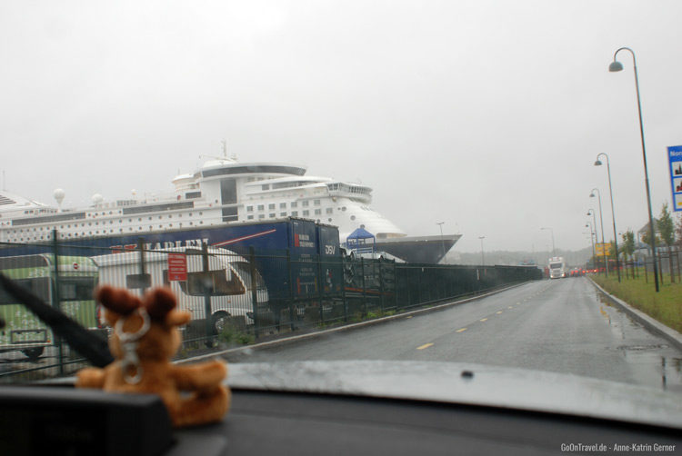 Ankunft in Oslo bei Regen