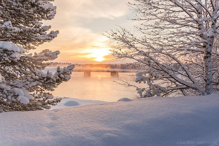 Schneelandschaft in Schweden