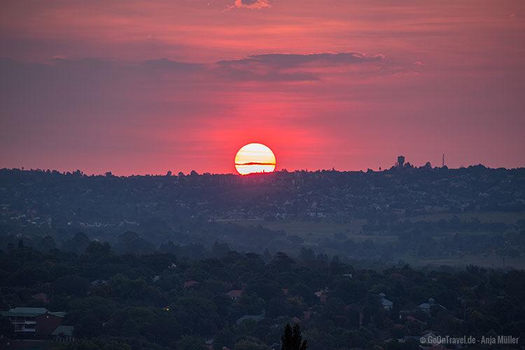Sonnenuntergang über Johannesburg