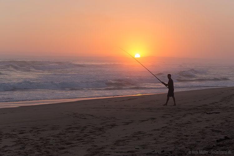Sonnenuntergang am Strand bei Groot Brakrivier