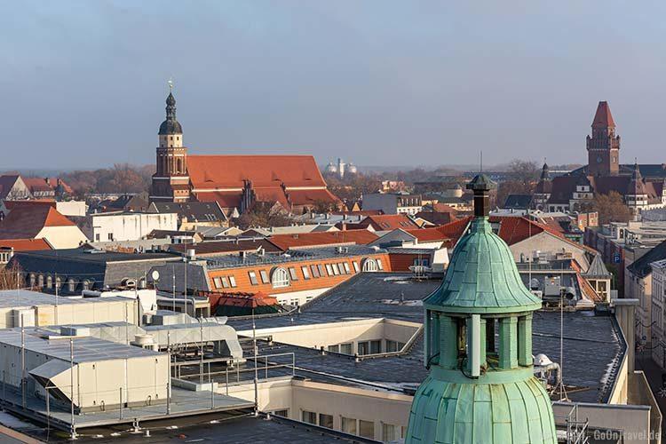 Aussicht auf Cottbus vom Spremberger Turm