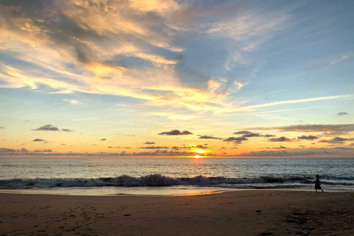 Sonnenuntergang am Madampe Beach
