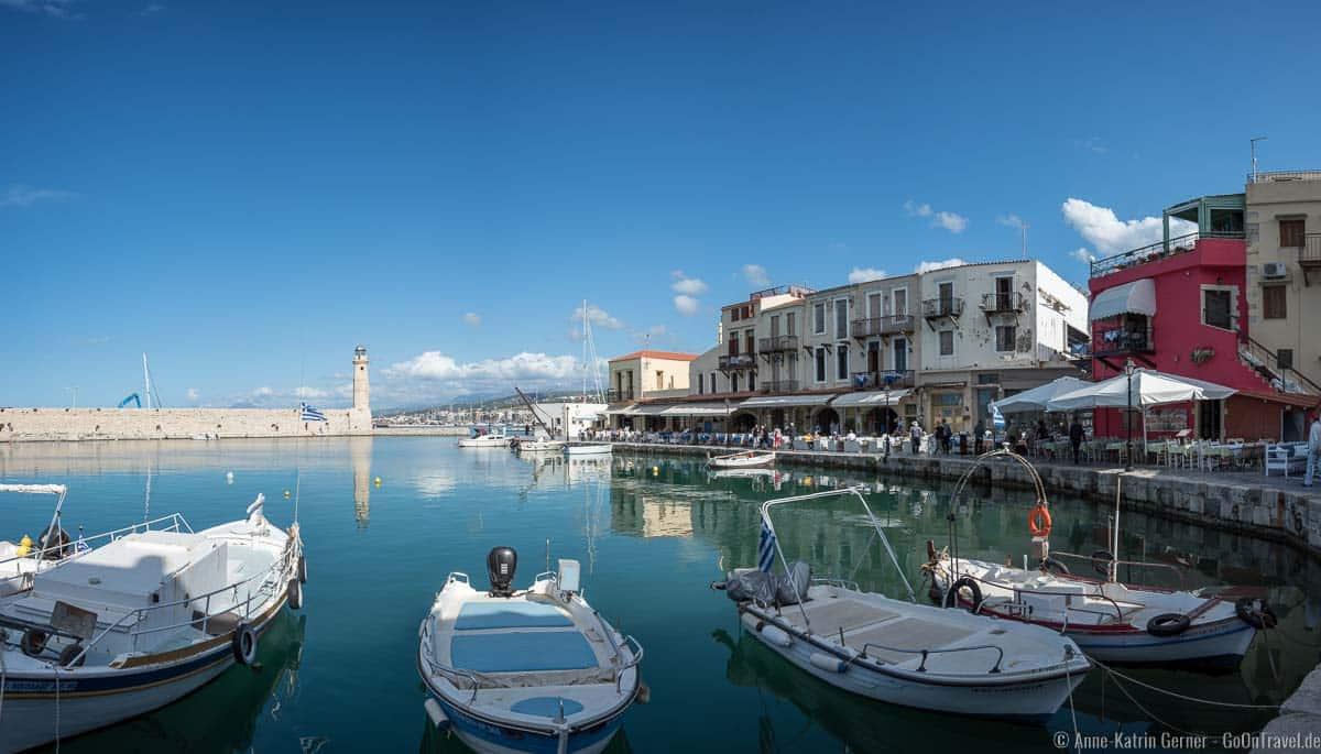 venezianischer Hafen von Rethymno auf Kreta