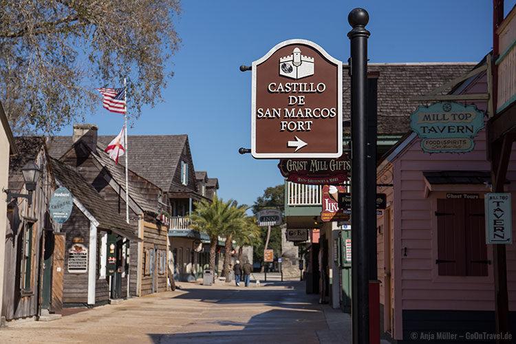 In der Altstadt der ältesten Stdt der USA - St. Augustine