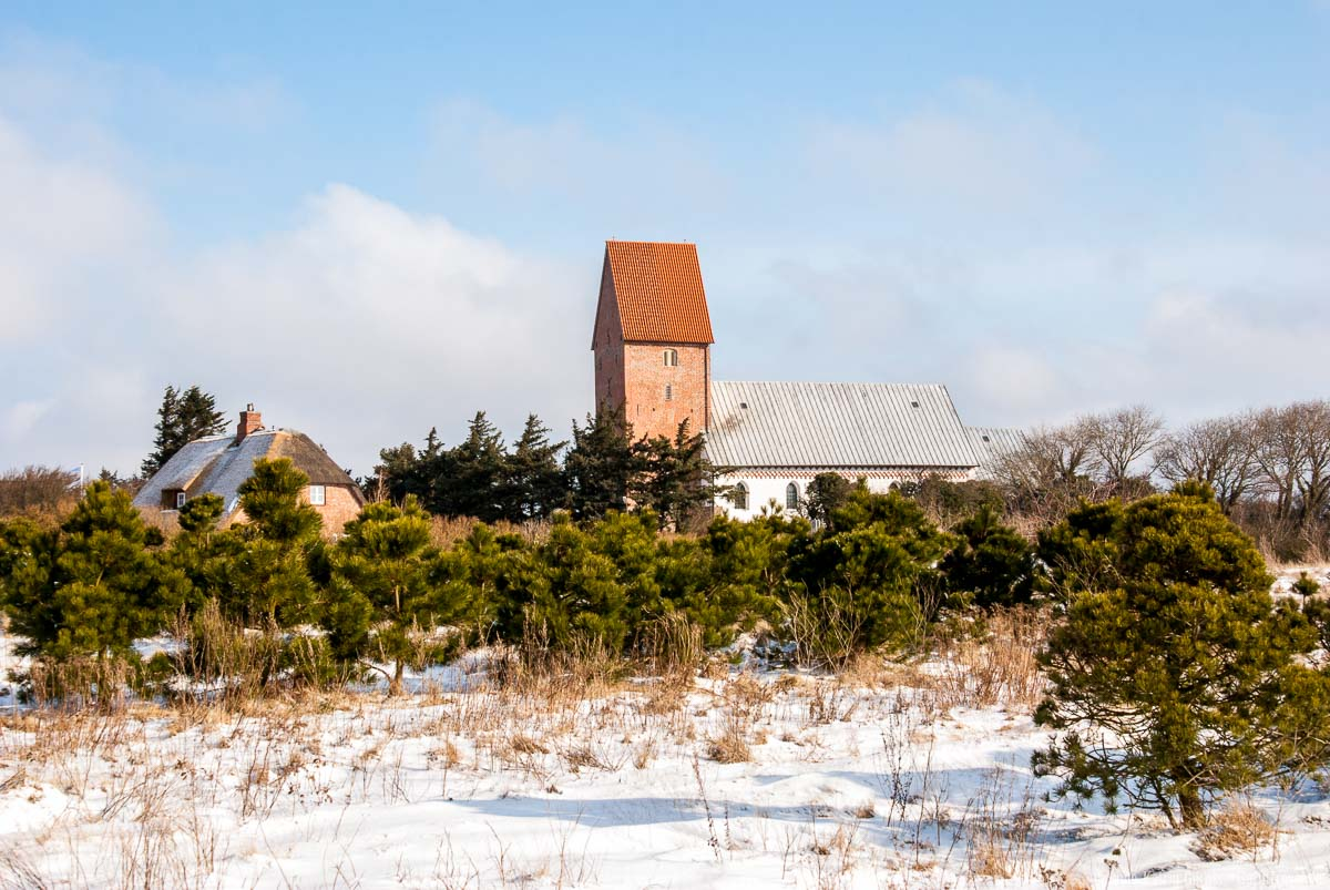 St. Severin Kirche in Keitum im Winter