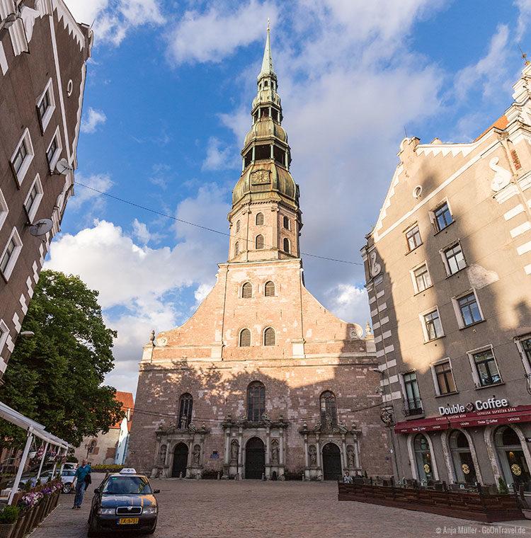 Die St. Petrikirche in Riga