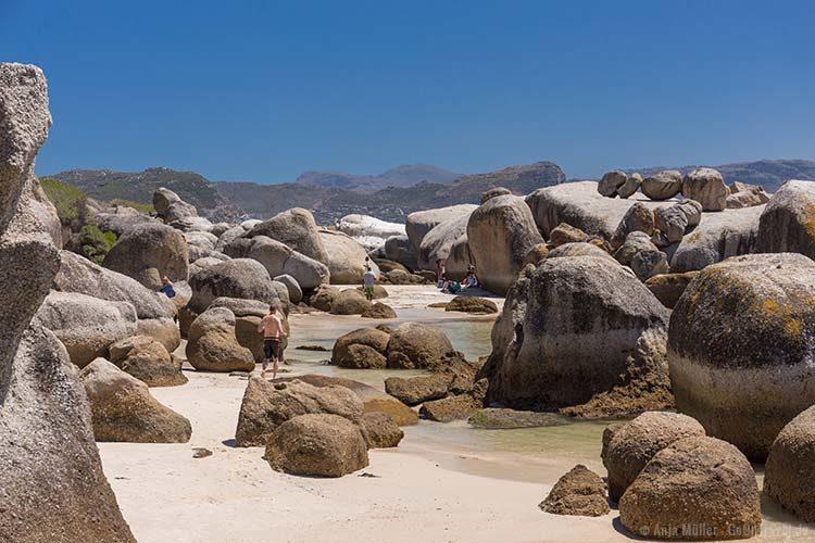 Die Felsen am Boulders Beach