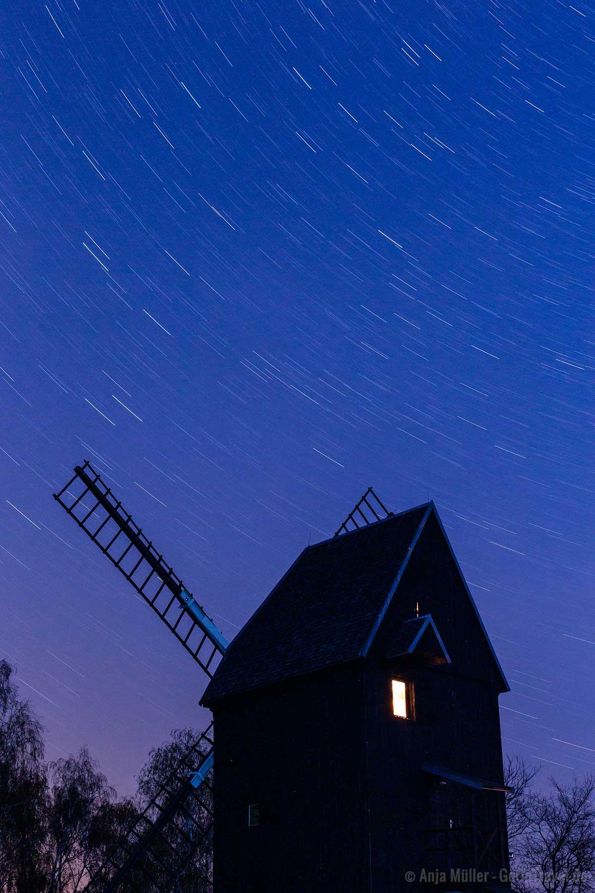 Strichspuren oder auch Startrails in der Sternenfotografie
