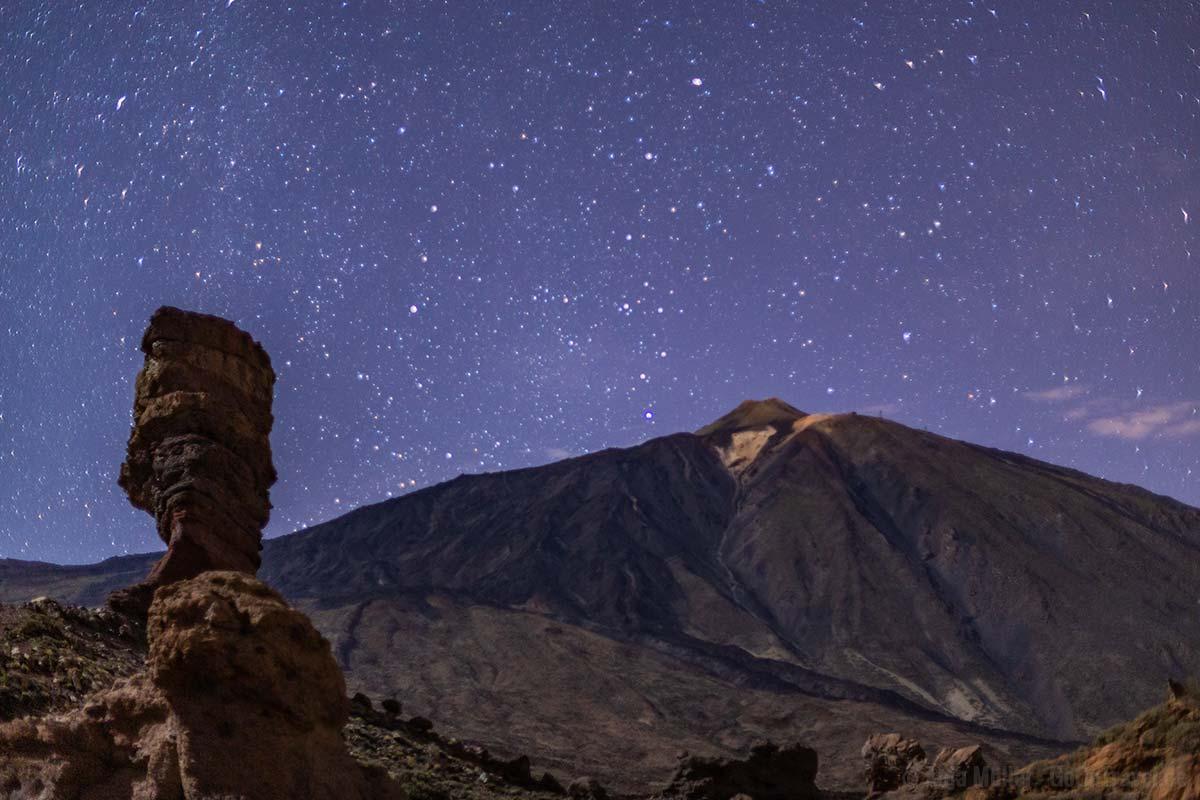 Sterne fotografieren im Teide Nationalpark