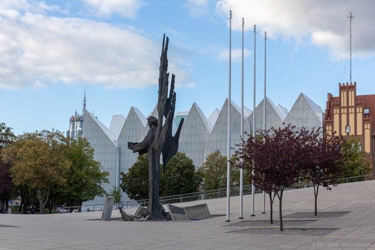 Blick auf die Philharmonie in Stettin