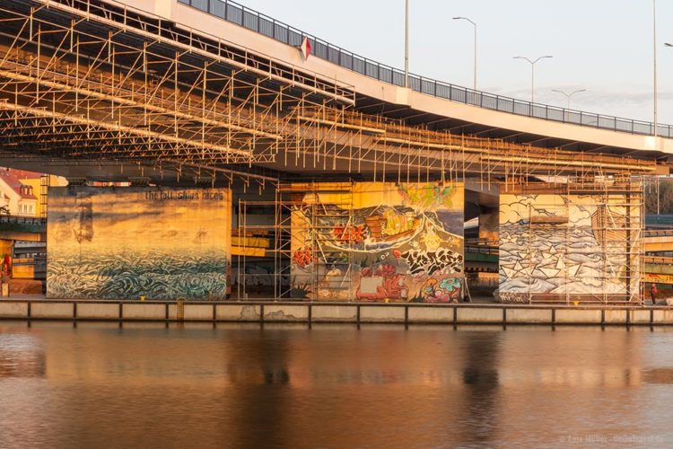 Streetart unter der Labuda's Brücke in Stettin.