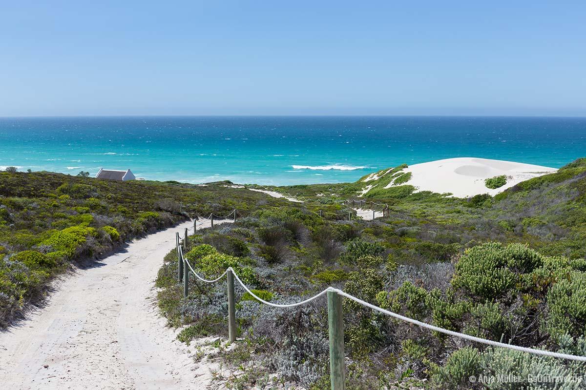 Weg zum Strand im De Hoop Nature Reserve