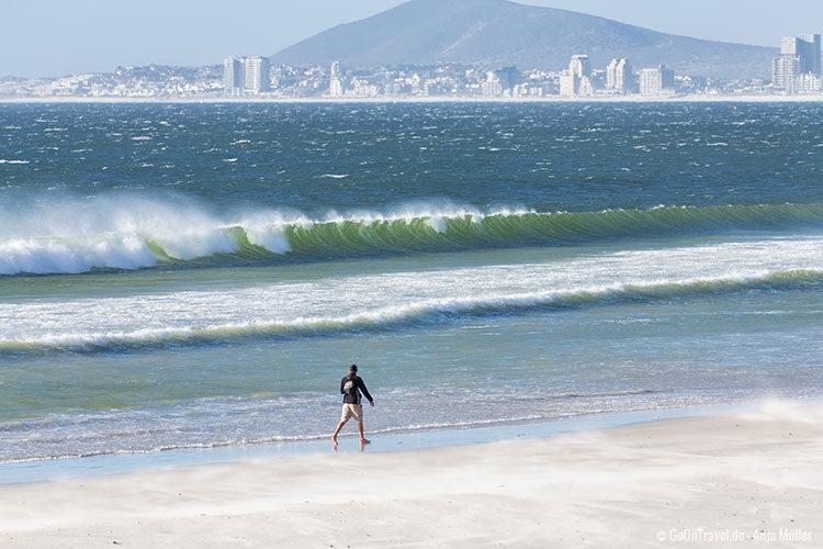 An den Stränden in Kapstadt ist es oft sehr windig!