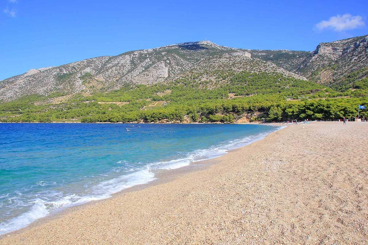 Zlatni Rat auf der Insel Brac in Kroatien