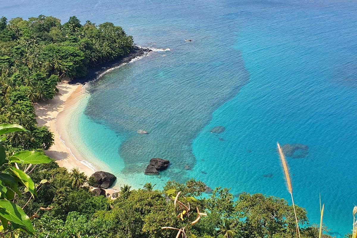 Wohl einer der schönsten Strände der Welt: Praia Banana auf Principe