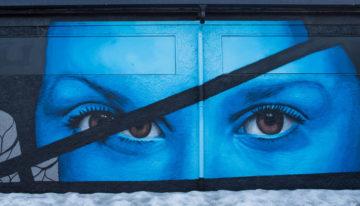 Street Art auf der Hurtigruten Postschiffroute