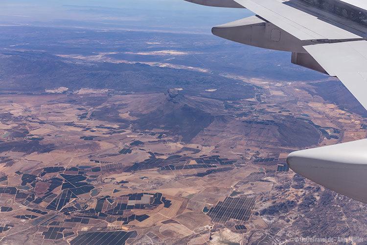 Flug über Südafrika