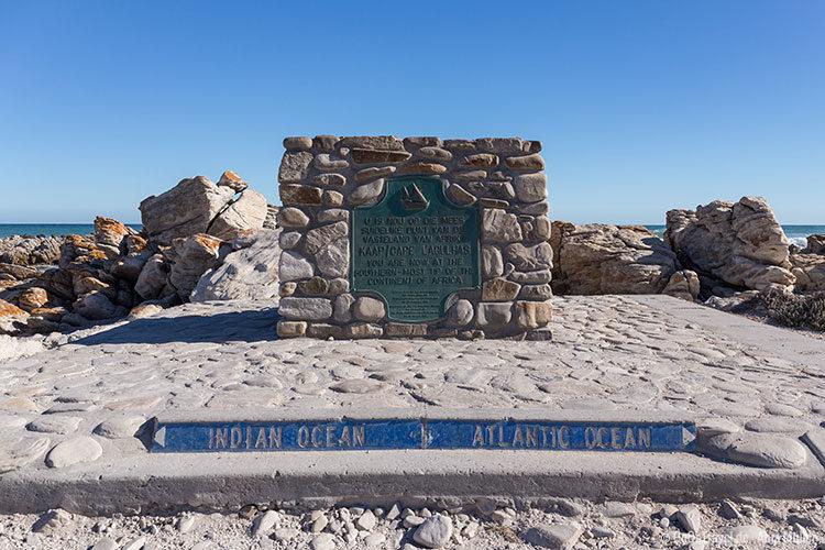 Kap Agulhas - südlichster Punkt des Kontinents Afrika