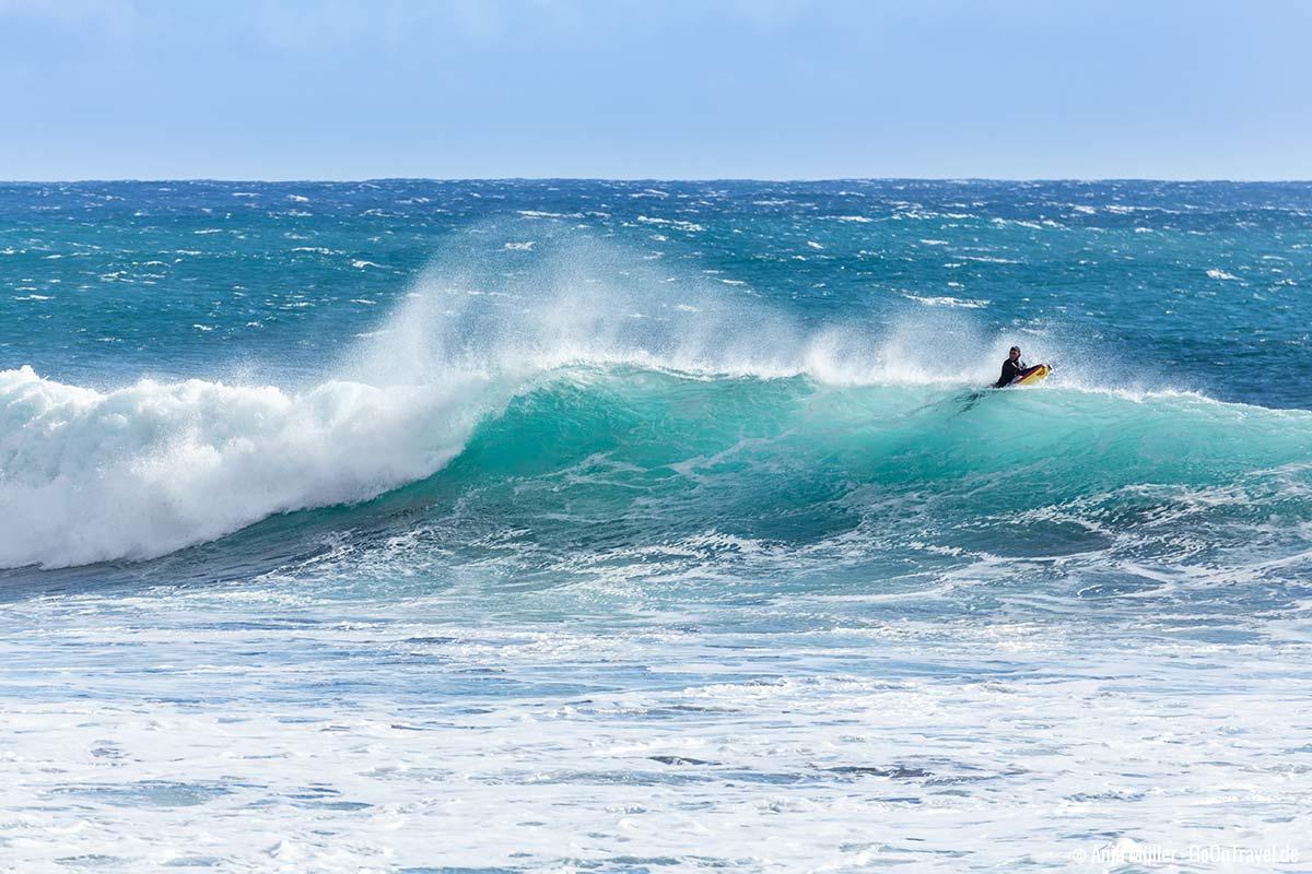 Warten auf die perfekte Welle
