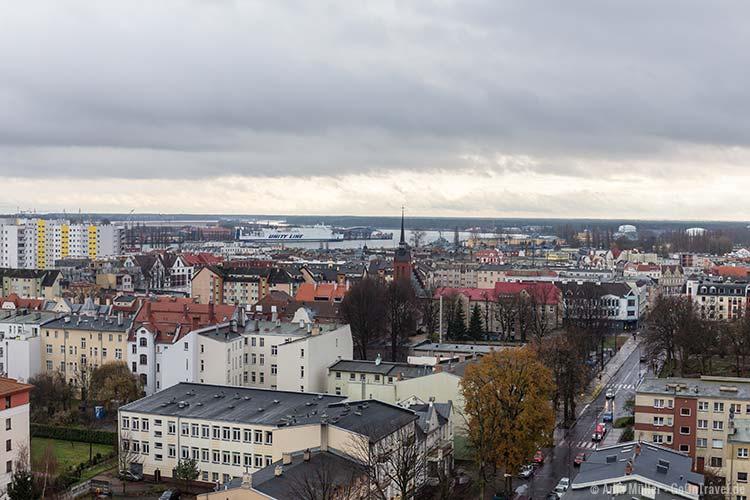 Blick auf Swinemünde vom Martin Luther Turm