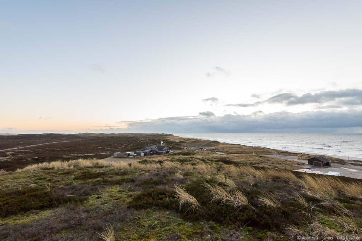Blick von der Lister Aussichtsplattform auf den Weststrand