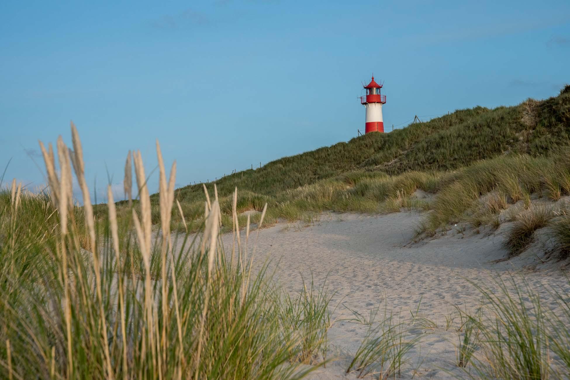 Sylt Ellenbogen Leuchtturm Strand