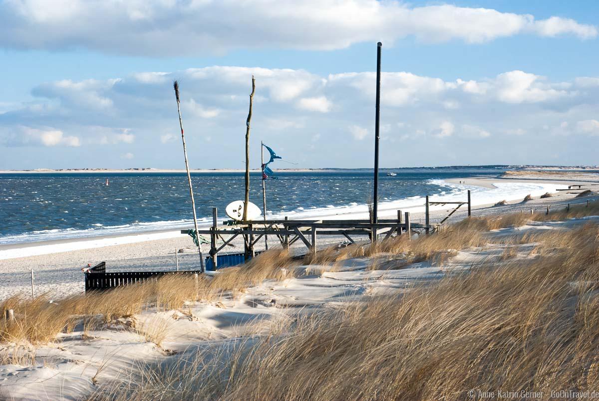 Hörnum Südkap im Winter mit Blick auf Amrum