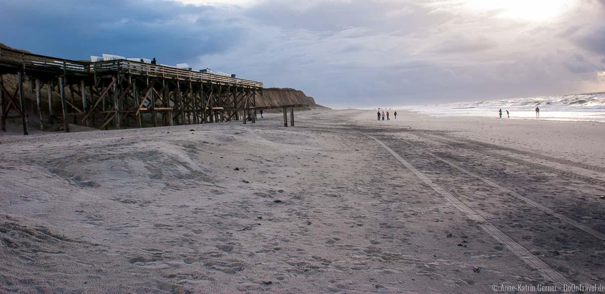 Strand Kampen nach Orkan Christian Ende Oktober 2013