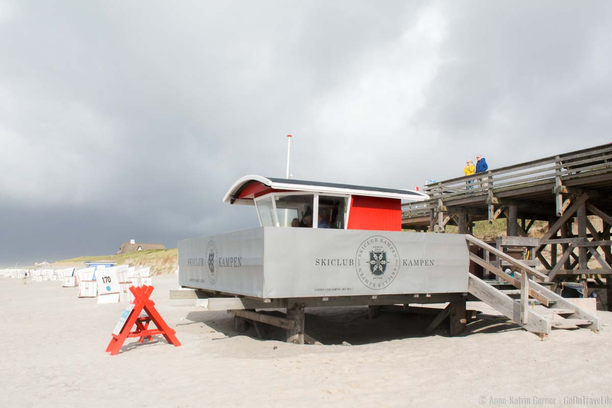 Im September 2015 ist die Sandaufspülung deutlich zu erkennen