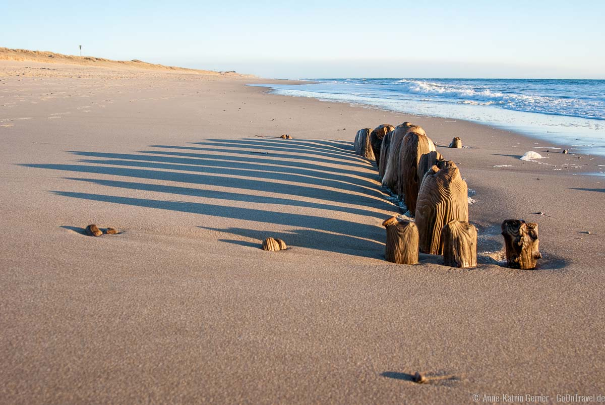 Holzbuhnen am Strand Baakdeel