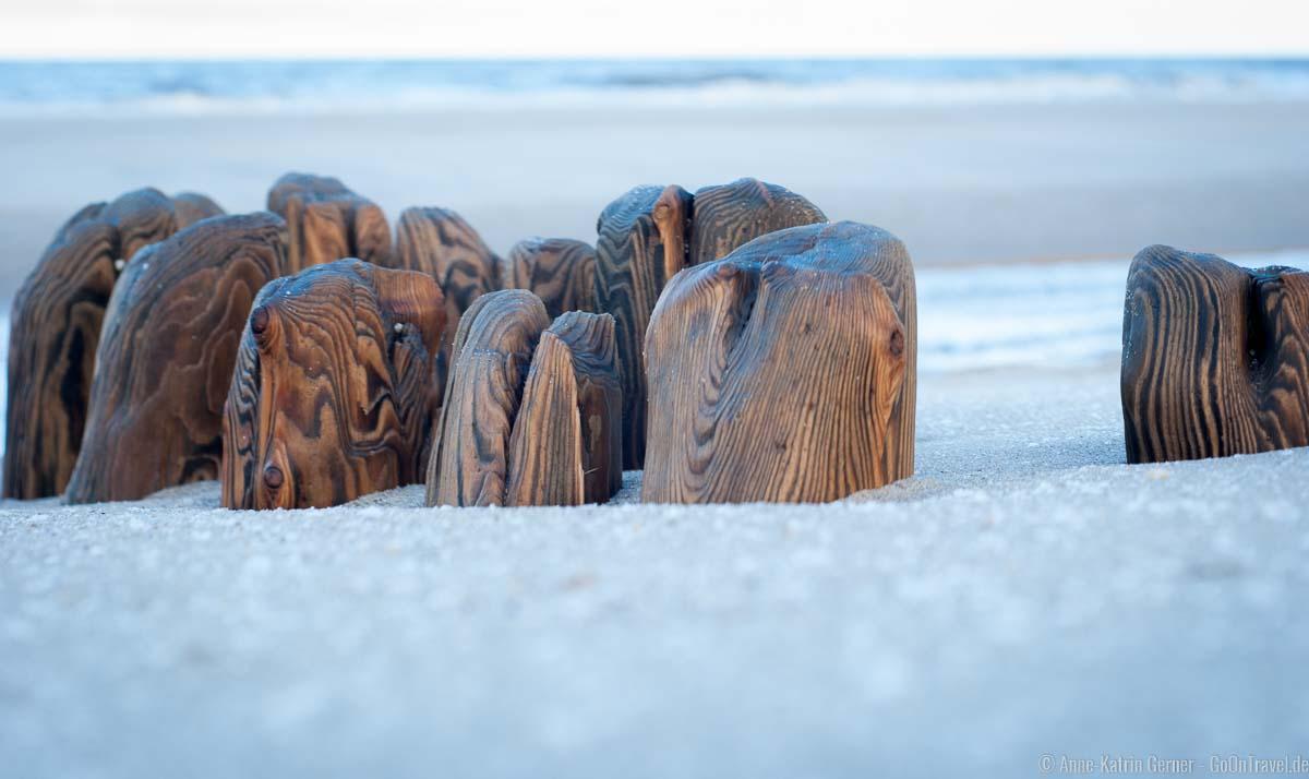 Buhnen am Strand von Baakdeel